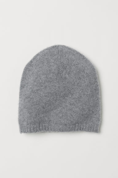 Knitted cashmere hat - Light grey marl - Ladies | H&M GB