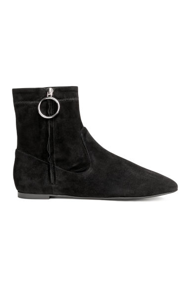 Suede ankle boots - Black -  | H&M CN