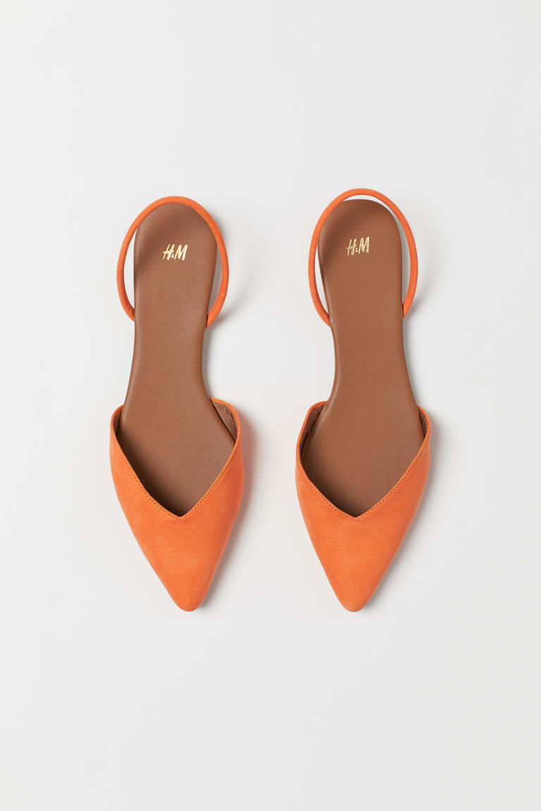Ballerines à bout pointu - Orange - FEMME | H&M FR