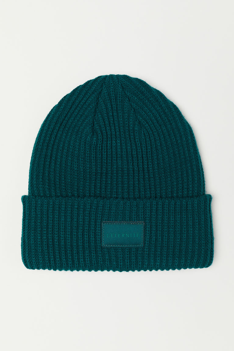 Ribbed hat - Dark green - Ladies | H&M
