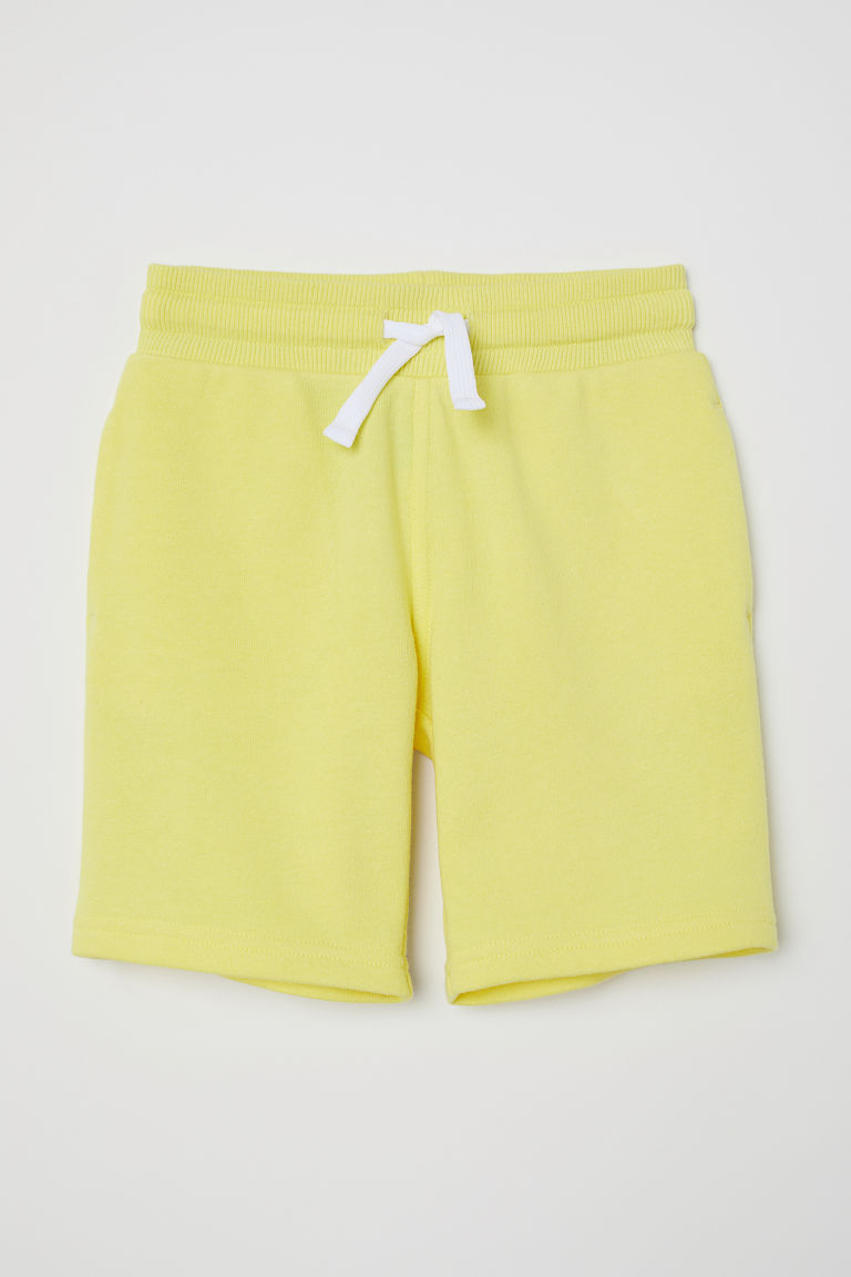 Sweatshirt shorts - Yellow - Kids | H&M