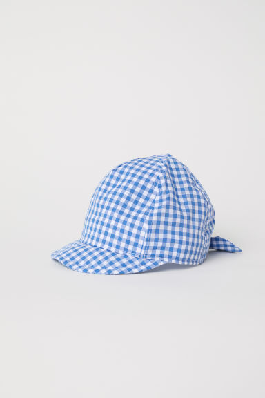 Cotton cap - Blue/Checked -  | H&M