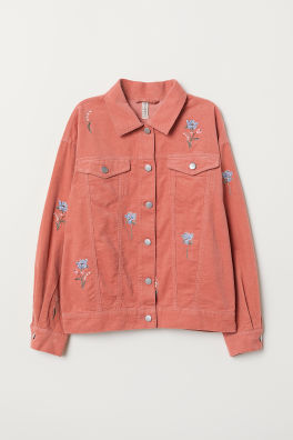 ca1e301e5 Embroidered corduroy jacket