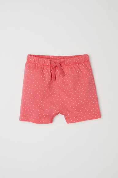 Shorts in jersey - Rosa corallo/pois - BAMBINO | H&M IT