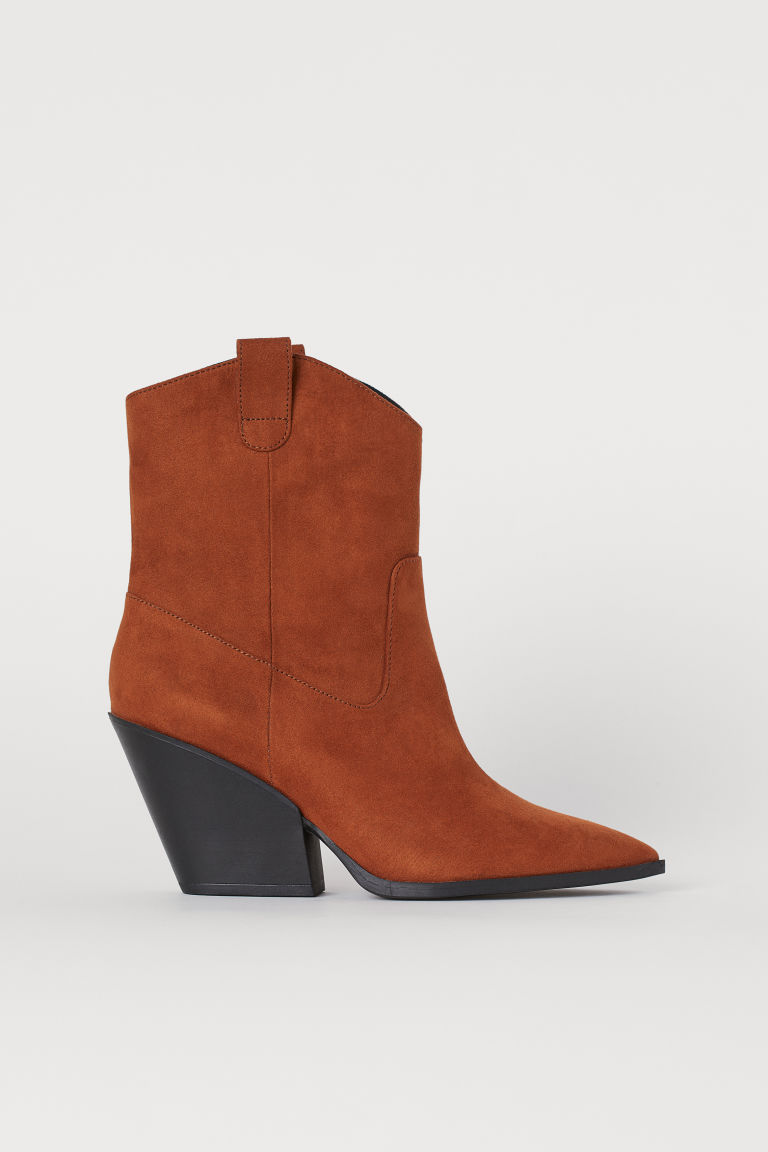 Boots with pointed toes - Brown - Ladies | H&M GB