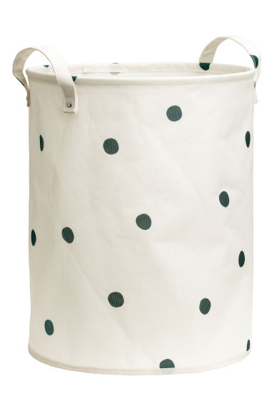 Storage Basket - Natural white/gray dotted - Home All | H&M US