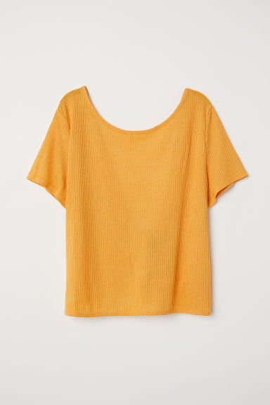 Open-backed top - Orange -  | H&M