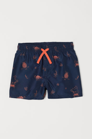 Patterned swim shorts - Dark blue/Patterned - Kids | H&M