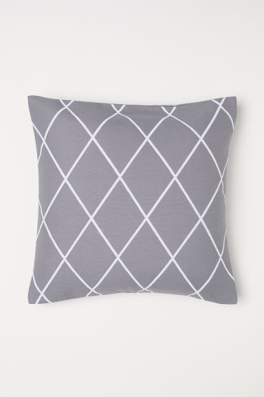 Jacquard-weave cushion cover - Grey - Home All | H&M CN