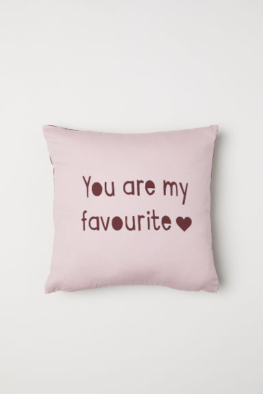 Cotton cushion cover - Light pink - Home All | H&M CN