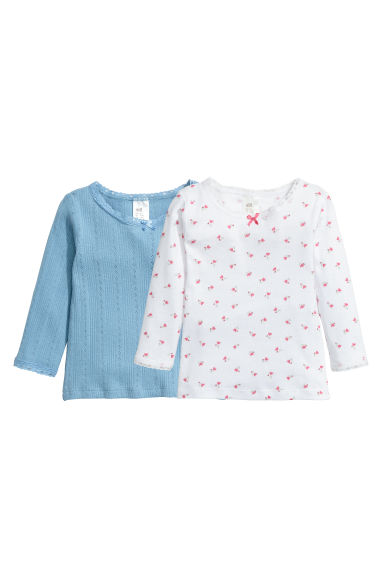 2-pack jersey tops - Dusky blue - Kids | H&M CN