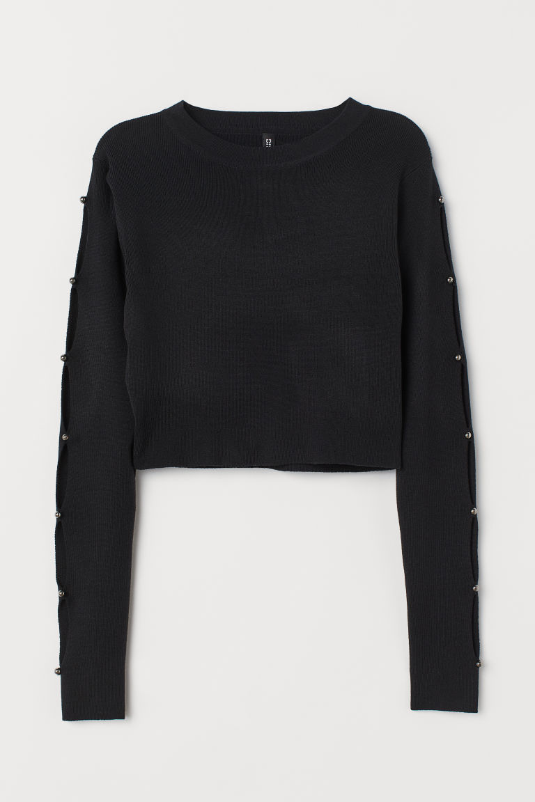 Pullover corto - Nero - DONNA | H&M IT