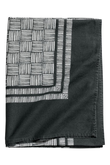 Patterned cotton tablecloth - Anthracite/Patterned - Home All | H&M CN