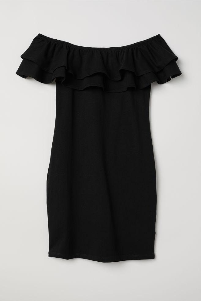 f6a0a8c725ba Off-the-shoulder Dress - Black - Ladies