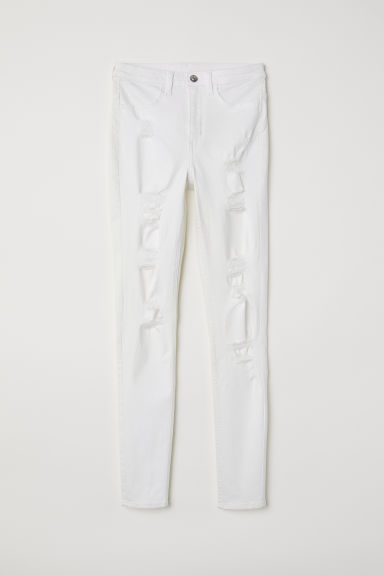 Super Skinny High Jeans - White -  | H&M US