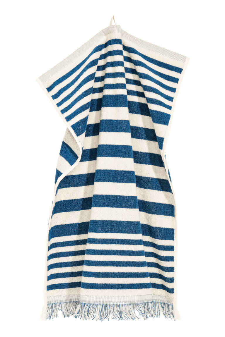 Striped hand towel - Blue/White striped - Home All | H&M CN