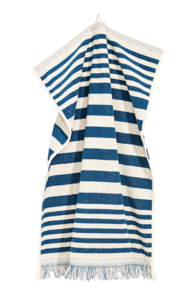 2fa29bc7ecfdac Ręcznik w paski - Niebieski/Białe paski - HOME | H&M PL 1