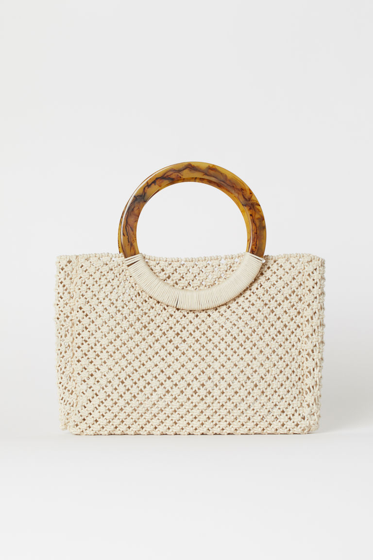 Macramé handbag - Natural white - Ladies | H&M GB