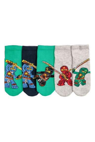 5-pack trainer socks - Green/Ninjago - Kids | H&M