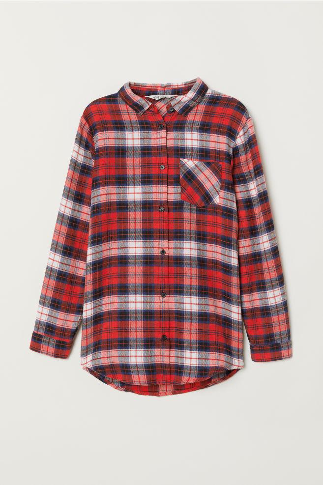 8f0441a2 Skjorte i flanell - Rød/Blå rutet - BARN | H&M ...