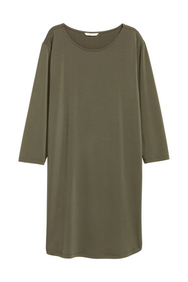 Jersey dress - Khaki green -  | H&M