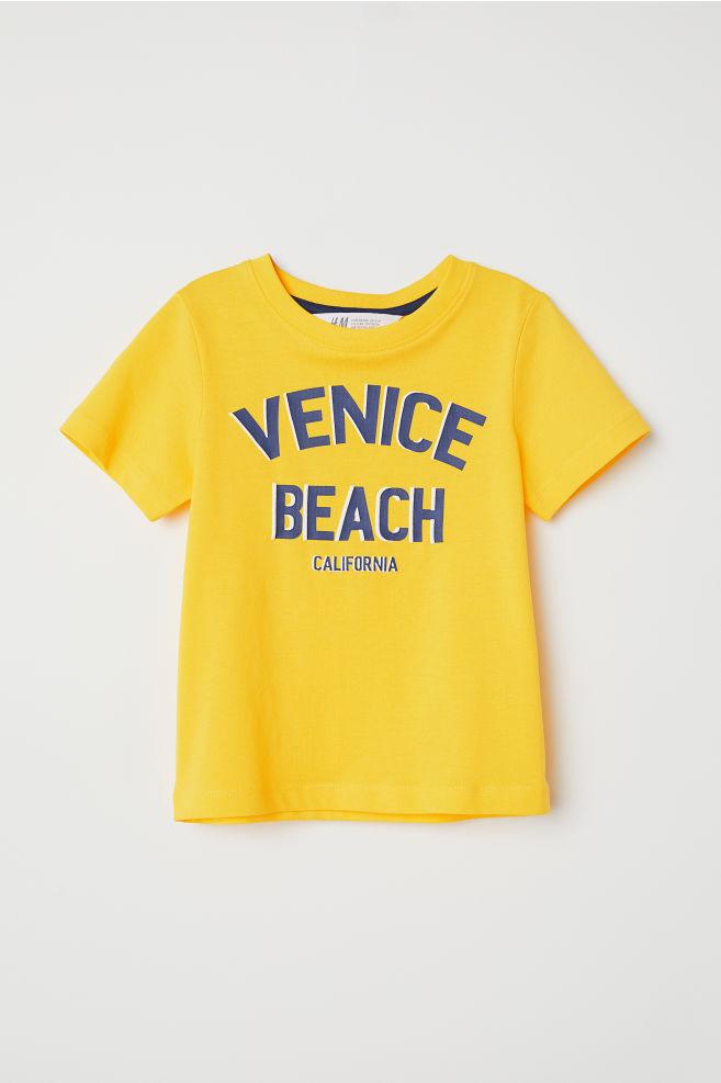 Nyomott mintás póló - Sárga Venice Beach - GYEREK  79485e511d