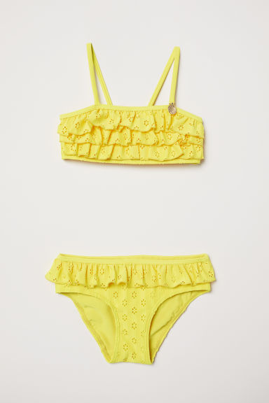 Frilled bikini - Yellow - Kids | H&M
