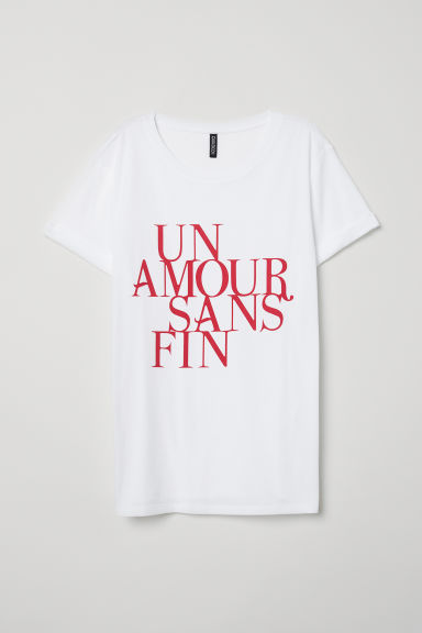 T-shirt with a motif - White -  | H&M GB