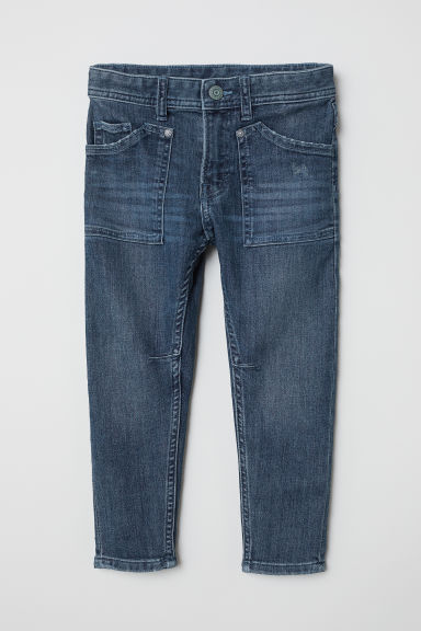 Relaxed Tapered Fit Jeans - Dark denim blue - Kids | H&M