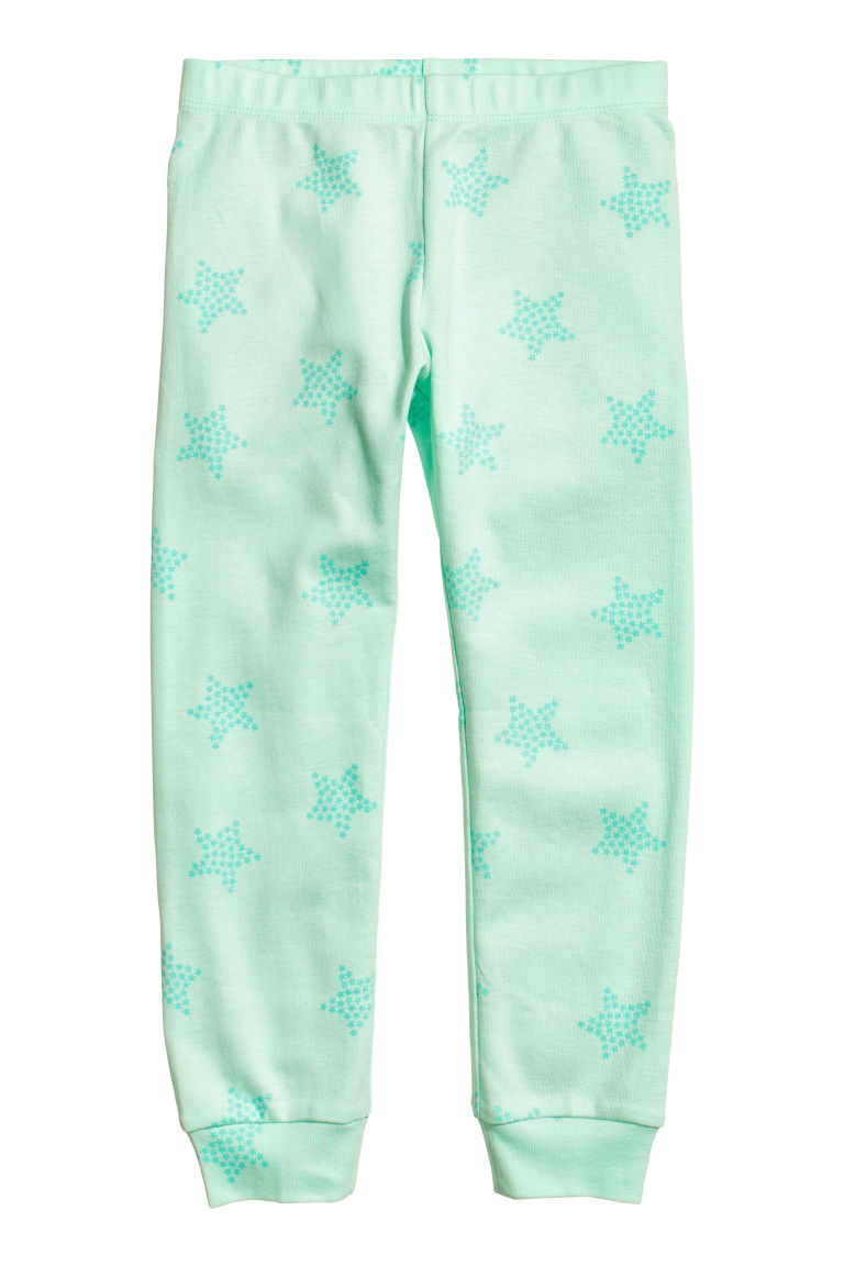 2-pack jersey pyjamas - Light turquoise/Stars - Kids | H&M CN