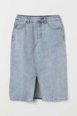 b1b6c212a5 Dżinsowa spódnica do kolan