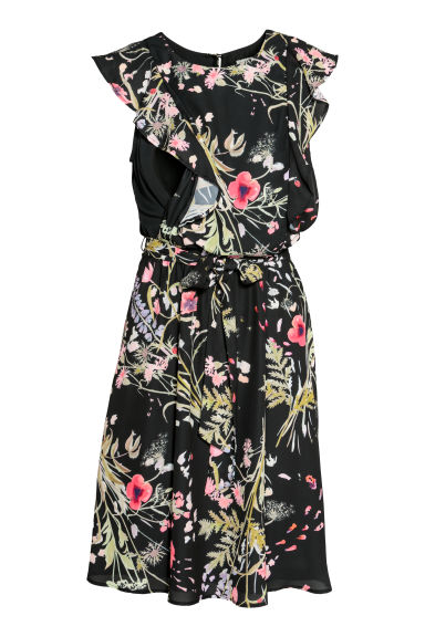 MAMA Nursing dress - Black/Floral - Ladies | H&M IE