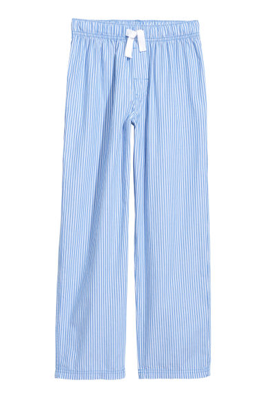 Cotton pyjama bottoms - Light blue/Striped - Kids | H&M