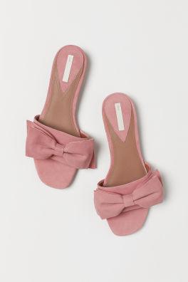 super popular b5628 de8b3 Slip in-sandaler i mocka