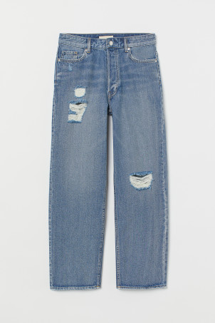 Tapered Ankle Jeans