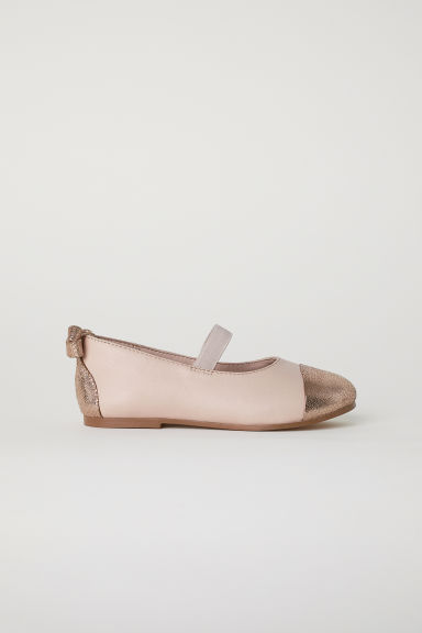 Leather ballet pumps - Powder pink -  | H&M