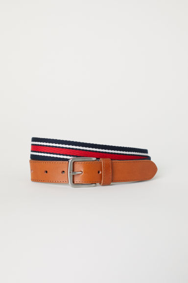 Webbing belt - Red/Multicoloured - Men | H&M CN