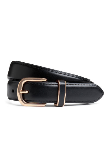 Leather belt - Black - Ladies | H&M