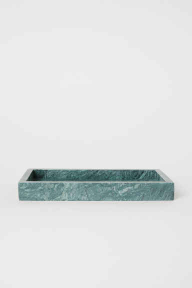 Marble tray - Dark green/Marble - Home All | H&M CN