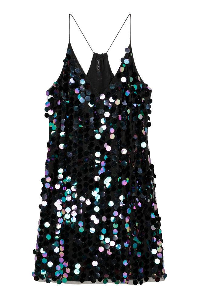 da6f02a136 Sukienka z cekinami - Czarny - ONA