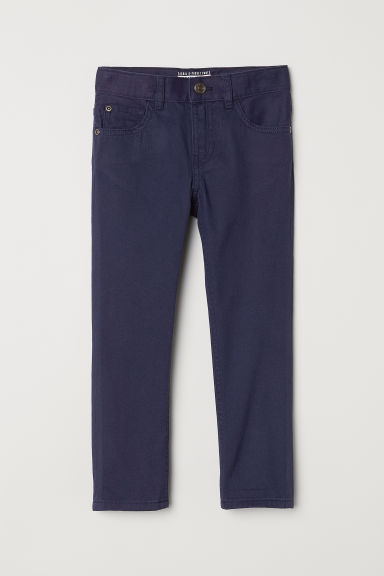 Twill trousers Regular fit - Dark blue - Kids | H&M