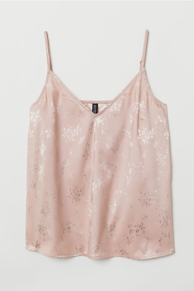 d4126ebfd477 V-neck strappy top - Powder pink - Ladies
