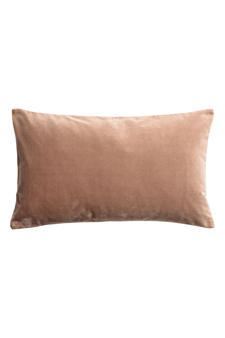 Velvet cushion cover - Camel - Home All | H&M CN