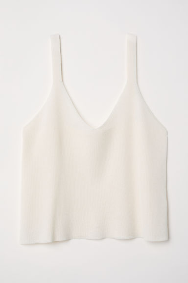 Top in maglia fine - Crema - DONNA | H&M IT