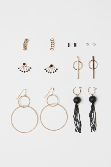 7 pairs earrings - Gold-coloured - Ladies | H&M CN