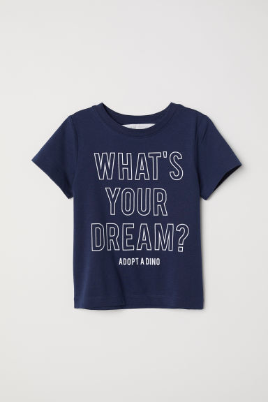 Printed T-shirt - Dark blue/Dream - Kids | H&M