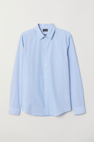 Shirt Slim Fit - Light blue/Spotted - Men | H&M