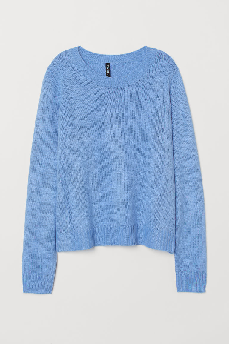 Knitted jumper - Pigeon blue -  | H&M GB