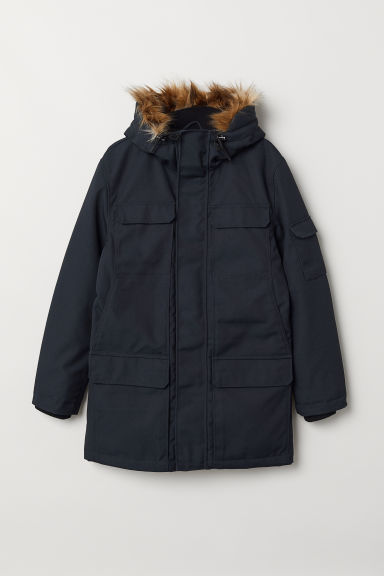 Warm-lined parka - Dark blue - Men | H&M