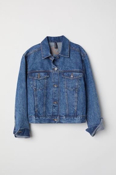 Denim jacket with appliqués - Denim blue/Looney Tunes -  | H&M GB